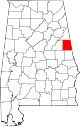 Map of Alabama highlighting Randolph County.svg
