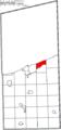 Map of Ashtabula County Ohio Highlighting North Kingsville Village.png
