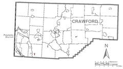 Map of Atlantic, Crawford County, Pennsylvania Highlighted.png