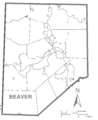 Map of Beaver County, Pennsylvania No Text.png