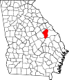 Map of Georgia highlighting Jefferson County.svg