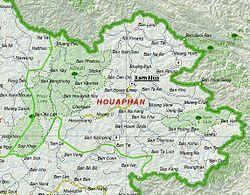 Map of Houaphan Province