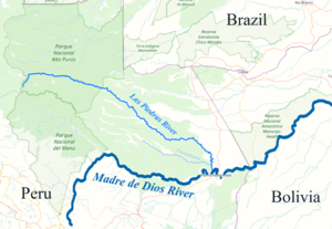 Map of Las Piedras River and Pariamanu.png