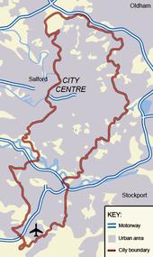 Manchester Wikipedia - London map manchester