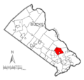 Map of Newtown Township, Bucks County, Pennsylvania Highlighted.png