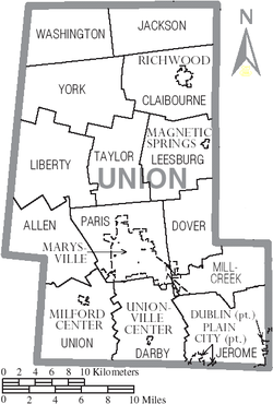 Municipalities and townships of Union County