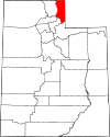 State map highlighting Rich County
