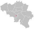 Map of charleroi in belgium.PNG
