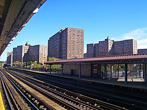 Marble Hill–225th Street (IRT Broadway–Seventh Avenue Line) - Northbound view from southbound platform