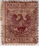 Marca da Bollo Centesimi 5 Aquila Sabauda (revenue stamp Italian).TIF
