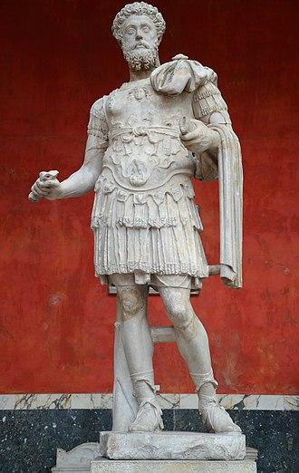 Reign of Marcus Aurelius - Marble statue of Marcus Aurelius in the Ny Carlsberg Glyptotek, Copenhagen