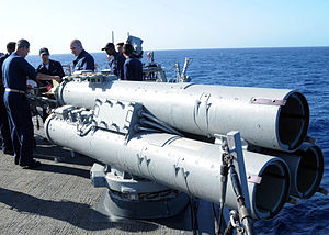 Mark 32 Surface Vessel Torpedo Tubes - Image: Mark 32 surface vessel torpedo tube