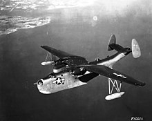 Martin PBM-5 Mariner in flight, circa in 1945 (SDASM 00006374).jpg