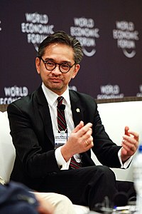 Marty Natalegawa at the World Economic Forum on East Asia 2011.jpg