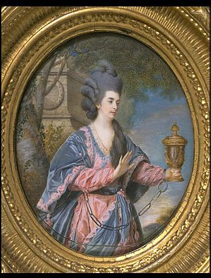 Samuel Cotes - Mary Anne Yates as Electra in Orestes by Voltaire, 1769 portrait by Samuel Cotes