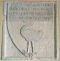 Massa marittima, san francesco, interno, stemma con cicogna.JPG