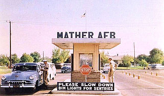 Mather Air Force Base - Main Gate, about 1955