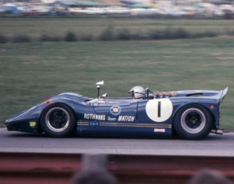 Frank Matich - Matich won all three rounds of the 1969 Australian Sports Car Championship in the Matich SR4 Repco