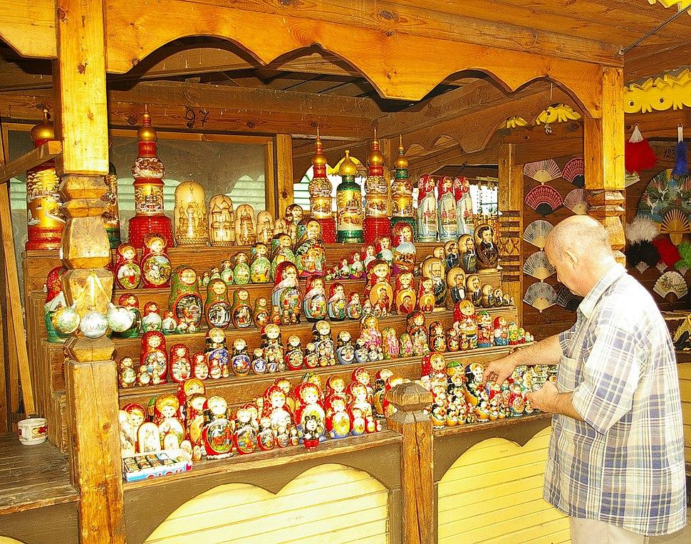 Matryoshka dolls put up for sale