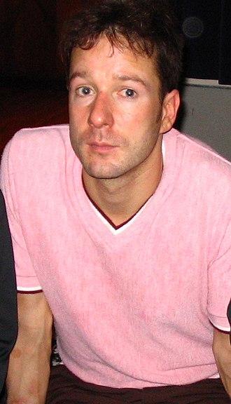 Matt Sharp - Matt Sharp after a solo tour show at the W.O.W. Hall in Eugene, Oregon, on September 22, 2004.