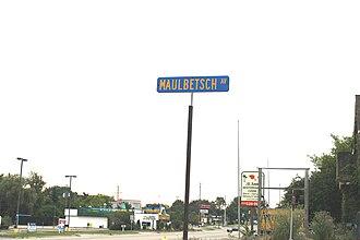 John Maulbetsch - Maulbetsch Ave. street sign