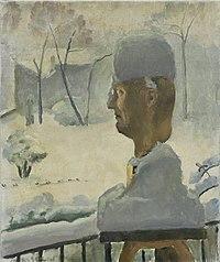 Maurice Asselin - Autoportrait sous la neige.jpg