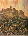 Maurice Leloir - Le Roy soleil-Incendie du château d'Heidelberg.jpg