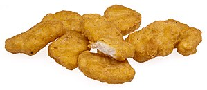 English: A pile of McDonalds Chicken McNuggets...
