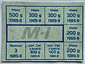 Meat ration stamps M-I of Poland for August 1989.jpg