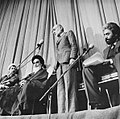 Mehdi Bazargan Inauguration, appointed prime minister of Iran by Khomeini, in the hall of Alavi Madrasa - 4 February 1979 (2).jpg