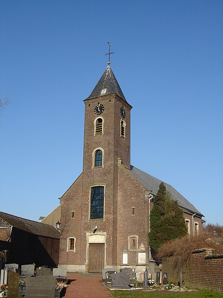 Sint-Martinuskerk (Church of Saint Martin) in Meilegem. Meilegem, Zwalm, East Flanders, Belgium