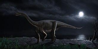 Melanorosauridae - Life depiction of Melanorosaurus