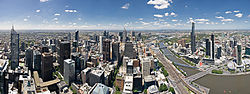 Melbourne Skyline from Rialto - Nov 2008