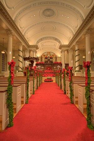 Memorial Church of Harvard University - Image: Mem Church Sanctuary