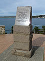 Memorial plaque, Bass and Flinders Point, Cronulla, New South Wales (2010-07-19) 01.jpg