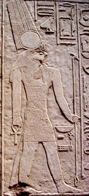 Temple of Montu (Medamud) - Relief of Montu in Medamud.