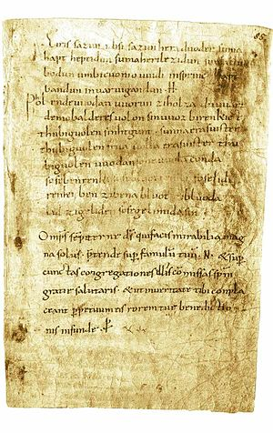 Spell (paranormal) - Manuscript with the Merseburg Incantations.