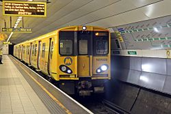 Merseyrail Class 507, 507023, Liverpool Lime Street underground station (geograph 4500643).jpg