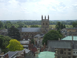 Merton College Chapel - Image: Merton College and chapel from St Marys
