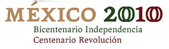 Celebration of Mexican political anniversaries in 2010 - Official logo.