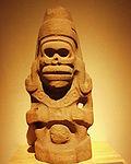 Mexico - Museo de antropologia - Yeux sombres.JPG