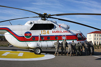 Azerbaijani Air and Air Defence Force - An MI-8 rescue helicopter