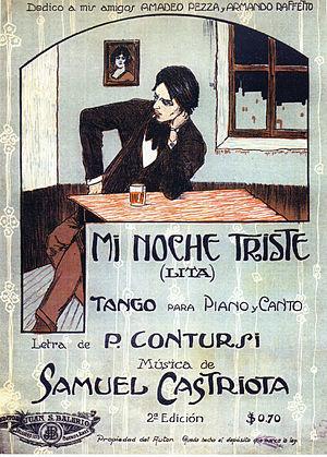 Mi noche triste - The score´s title page of Mi noche triste