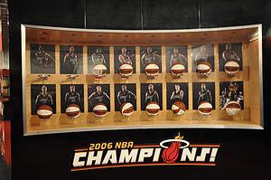 Miami Heat 2006 NBA Champions display in Ameri...