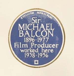 Michael Balcon - Image: Michael Balcon blue plaque