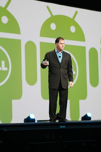Michael Dell - Michael Dell lecturing at the Oracle OpenWorld, San Francisco 2010
