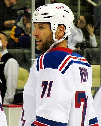 Mike Rupp - Rupp with the Rangers, January 2012.