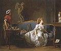 Michel Garnier Jeune femme éplorée lisant une lettre ou L'attente.jpg