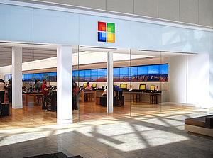Microsoft Store - A Microsoft Store bearing the 2009–2012 logo