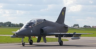 Midnight Hawks - A BAe Hawk Mk51 (HW-327) of the Finnish Air Force display team Midnight Hawks at the Radom Air Show 2009